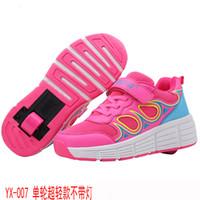 spor tekerlekler silindir ayakkabıları toptan satış-Heelys ucuz Roller ile Tek Teker Erkekler Kızlar Merdane Skate Casual Ayakkabı ile 2019 YENİ Çocuk Sneakers Çocuk Kız Spor Ayakkabı T190916