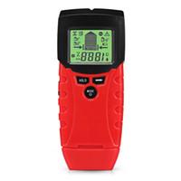 medidores de humedad para paredes al por mayor-TM100 Stud Center Finder Medidor de humedad Detector Escáner de pared: mida el contenido de humedad de maderas y materiales de construcción.