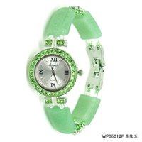 ingrosso set di gioielli di giada-Presenta il nuovo originale dongling gioielli orologio da polso in giada orologio da donna con cinturino in acciaio