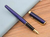 metal Sonnet Blue Lacquer With Golden Trim M Nib Fountain Pen