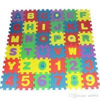 brinquedos educativos de tecido venda por atacado-GRANDE 36 pcs Crianças Do Bebê Alfanumérico Educacional Puzzle Blocos Infantil Brinquedo Da Criança Gif