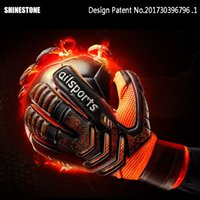 Wholesale baseball glove leather for sale - Group buy Professional Goalkeeper Gloves Finger Protection Thickened Latex Soccer Goalie Gloves Football soccer Goalkeeper Gloves Perfect Quality