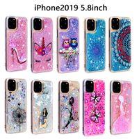 caja de flores bling al por mayor-Para Iphone 11 Pro Max 5.8 6.1 6.5 pulgadas Samsung Galaxy NOTE10 Pro A20E Bling Liquid Soft TPU Funda Quicksand Owl Flower Unicorn Skin Cover