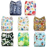 Wholesale panties infant resale online - 1pc Cute Cartoon Baby Diapers Reusable Nappies Cloth Diaper Washable Infants Children Baby Cotton Training Pants Panties Nappy
