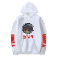 könig sweatshirts großhandel-Godzilla Print Herren Hoodies König der Monster Langarm mit Kapuze Paare Sweatshirts Herbst männliche Bekleidung