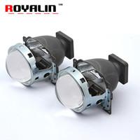 Wholesale bi xenon projector headlights for cars online - ROYALIN Car Bi Xenon Projector Headlights for Q5 Koito D1S D2S D3S D4S HID Lamps Lens inch W LHD Lights Retrofit