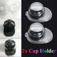 Wholesale metal hat display resale online - 1 Set Acrylic Clear Cap Hat Protector Baseball Cap Display Case