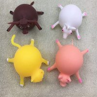 Wholesale small balls for sale - Group buy 2019 NEW TPR blowing cute small animal wave ball stress relief toy soft rubber inflatable ball