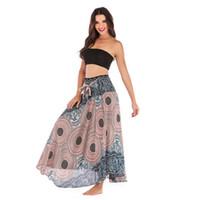 euro mode kleid großhandel-Turnhalle Neue Mode Freizeit Thai Euro-American Kleider Halblange Röcke Strandurlaub Röcke Zwei Kleider Bauchtanz