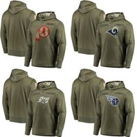 465bcdc68 Men s Redskins St. Louis Buccaneers Titans Olive Salute to Service Sideline  Therma Performance Rams Hoodie