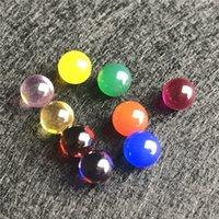 pérola de jade venda por atacado-Novo 6mm Jade Diamante Ruby Terp Pérola Bola Inserir Vermelho Verde Azul Amarelo Pérolas Ruby Ball Insert para Quartz Banger Prego