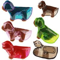 capa de alta qualidade venda por atacado-Ao ar livre prático capa de chuva de plástico à prova de água com capuz roupas de estimação cão impermeável transparente de alta qualidade 8 5 Ww