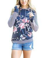 dame blumen-sweatshirt groihandel-2019 frauen hoodies sweatshirts damen herbst winter fallen neue druck floral festivals klassiker mode sweat shirts hoodies
