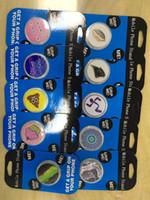 cep telefonları için stand takımı toptan satış-2018 Toptan Mavi kart Cep Telefonu Standı Evrensel Sıcak Soket Cep Telefonu Tutucu Smarphone Tablet Için Perakende Paketi Ile Ücretsiz özel