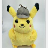 packen spielzeug maschine großhandel-Big Detective Pikachu Puppe Kid Plüschtier Greifmaschine Puppen Gelb Geburtstagsgeschenk Nette Fabrik Direktverkauf 10db F1