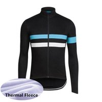Wholesale thermal cycling tights men resale online - RAPHA team classic Jerseys Jacket winter thermal fleece tight Cycling Jersey long sleeve for spring top quality bicycle