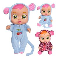 Wholesale baby dolls cartoon for sale - Group buy Silicone Reality Crying Baby Pretend To Play Electronic Music Weeping Doll for Children Birthday Gift