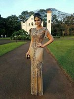 kleider kurz kim großhandel-Abendkleid Yousef aijasmi Kim Kardashian Charble Elie Saab Chocalat Gold Quaste Mantel Kurzarm Quaste Zuhair Murad 101