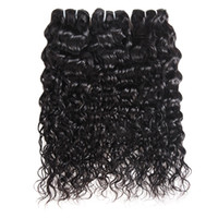 Wholesale wet wavy human hair extensions resale online - Brazilian Virgin Hair Water Wave Bundles Wet And Wavy Virgin Brazilian Human Hair Bundles Malaysian Curly Weave Hair Extensions