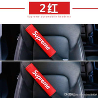 cinturón de seguridad al por mayor-2 unids / set coche auto creativo cinturones de seguridad van suave arnés del hombro manga de felpa de seguridad del cinturón de seguridad cojín correa