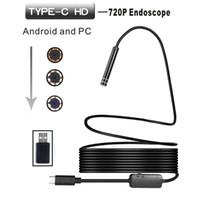 endoskop kamera 5.5mm toptan satış-Yeni ve yüksek kaliteli Çalışma sıcaklığı Android USB / TİP-C Endoskop Gözlem 5.5mm Kamerası 6 LED IP67 WATERPROF # ZS