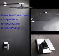set de douche monocommande achat en gros de-Set de douche mural mitigeur mitigeur avec pommeau de douche pluie ultra fine en acier inoxydable 304 # 3 tailles, choisir
