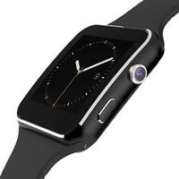 spor bileklik bileklik saat toptan satış-Erkekler Kadınlar Için 2019 Spor Akıllı Saatler Bilezik Bileklik Koşu Bluetooth Kamera Tel Dokunmatik Spor Akıllı Bilek İzle X6 Saat MX190716