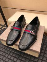 Wholesale bullock oxford shoes resale online - 18ss Designers New Arrival Men Formal Shoes Office Business Wedding Dress shoes Oxfords Bullock Design Handmade Leather shoes big size