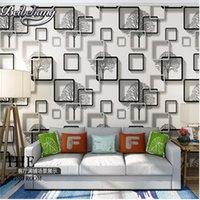 wallpaper für hotelzimmer großhandel-Stereo Violett Blau Tapete Wohnzimmer Fernseher Hotel Wohnzimmer Hintergrund 3D Tapeten Wandpapier Rollen papel de parede