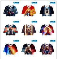 Wholesale captain clothes online - 3D Printed Captain Marvel Carol Danvers Ms Marvel Costumes Sweatshirts Tracksuit Casual hooded Jacket clothing Hoodies zipper