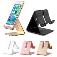 tischplatten-tischständer großhandel-Aluminium-Metall-Handyhalter Desktop Universal rutschfester Handy-Stand-Schreibtisch halten für iPhone IPad Samsung Tablet