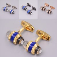 brindes promocionais jóias venda por atacado-Promocional mb Mens Wed Camisa Abotoaduras Com Cabeça de Cristal de Luxo Jóias de Cobre Abotoaduras Para O Presente Do Negócio