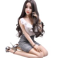volle silikon sex puppe klein groihandel-157cm japanische reale Silikongeschlechtspuppe realistische kleine Brust-Liebespuppen für Mann-lebensgroße Ganzkörper-Metallskelett-TPE-Puppe