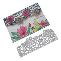Invitation Card Flower Background Metal Cutting Dies For Scrapbooking Album Embossing Folder Paper Card Maker Template Decor Stencils Crafts