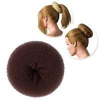 ingrosso accessori per capelli di updo-1PC Fashion Donna Brown Bun Ring Hair Shaper Donut Updo Strumenti per lo styling Acconciatura coreano per accessori per capelli da donna