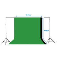 Wholesale photography backdrop stand clamps resale online - Photography Backdrop Stand x M Photo Backdrop Stand Kit Washable White Black Green Background Stand Support System with Clamps USA Ship