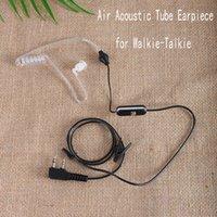 radyo havası toptan satış-2 ADET Hava Akustik Tüp Kulaklık (2-Pin K Tak) / Baofeng 888S için PMIC Hoparlör Kulaklık Walkie Talkie Radyo Kulaklık