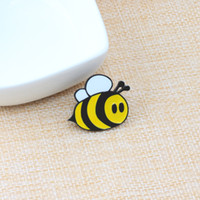Wholesale birthday girl pin resale online - Fashion Brooches Cartoon Cute Bee Fly Insect Brooch Kids Girls Clothes Accessories Black Yellow Enamel Pin Birthday Gift Jewelry