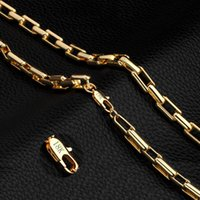 Wholesale women curb chain necklace for sale - Group buy Fashion Mens Chain Necklace K Gold Plated Set Hip Hop Curb Cuban Necklace Chain Link Bracelet Bangle for Men Women Statement Jewelry Gift