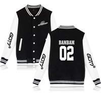 Wholesale red wine coats resale online - Got7 Hoodies Tour World Patrol Vocal Concert Printing Men And Women Baseball Clothes Cardigan Loose Coat Hoodie