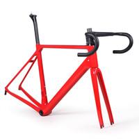 рамы для велосипедов из углеродного волокна оптовых-Много цветов углеродного волокна дорожный велосипед рама вилка зажим подседельный углерода дорожный велосипед рама 880 г Бесплатная доставка