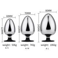 Large Anal Plug Stainless Steel Soild Anus Trainer Butt Plug Smooth Butt Stopper Anal Expanding Simulation Toys for Couples