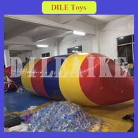 Wholesale free shipping inflatable beds resale online - x3m mm PVC Inflatable Trampoline Water Pillo Water Blob Jump Inflatable Jumping Jump Bed On Water