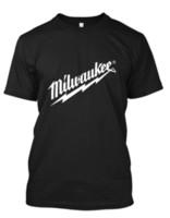 schwarze leder kapuzenpullis großhandel-Schwarzes T-Shirt der neuen Milwaukee Hammer-Männer T-Shirts Kundenspezifisches Jersey-T-Shirt Hoodie Hip-Hop-T-Shirt Jacke kroatisches Ledert-shirt