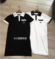 ingrosso marchio del vestito dalla porcellana-New Luxury Designer Style Dress Fashion Brand China Magliette Harajuku Women Brand ricamo logo abito a maglia