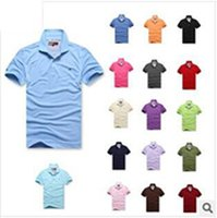 hombres 6xl camisetas al por mayor-Marca de alta calidad Camisetas para hombre Caballo grande bordado de cocodrilo LOGO Tamaño grande S-6XL Manga corta Verano Casual Camisetas de algodón