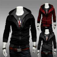 Wholesale assassins creed jacket online - Nice New Fashion Mens Fleece Hoodies Men Jacket Tracksuits Pullover Mens Hoodies Sweatshirts Assassins Creed