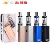 buharlı sigara kutusu pilleri toptan satış-JomoTech Lite 40 Kiti Başlangıç vape kitleri Jomo 40 w kutusu mod mini bulit-in 2200 mAh pil buharlaştırıcı kitleri 3 ml Lite tankı e sigara buharları DHL
