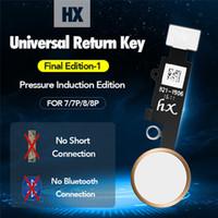 iphone ev düğmesi esnek toptan satış-HX 3nd Evrensel Ev Düğme Flex iPhone 7 7 Artı 8 8 Artı Geri Düğmesi Anahtar Yok Dokunmatik KIMLIĞI, Gerek Bluetooth ve Kısa Flex