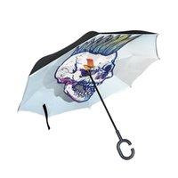 bâton de voiture noir achat en gros de-Susino Reverse Umbrella Women For Car Inversé Parapluie Bâton Parapluies Hommes Upside Down Noir Protection UV
